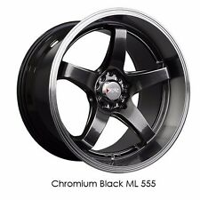XXR 555 18x8.5 5x114.3 5x100 +35 Chromium Black FRS BRZ CIVIC RSX ACCORD PRELUDE
