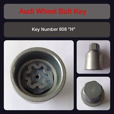 "Genuine Audi Locking Wheel Bolt / Nut Key 808 ""H"" 17 Hex"