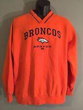 Denver Broncos NFL Football AFC West Embroidered Mens Orange Pullover Sweatshirt