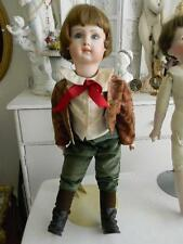 "Collectible Depose Tete Jumeau 25"" Bisque Jointed Boy Doll~Victorian outfit"