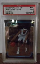 2003 Bowman R.&S.  #140 - CARMELO ANTHONY - CHROME - PSA 9 Mint