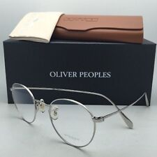 New OLIVER PEOPLES Eyeglasses COLERIDGE OV 1186 5036 47-22 Silver Frame w/ Clear