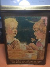 VINTAGE HUNGRY JACK PANCAKE MIX ADVERTISING TIN CAN Richard Ferrell Collection