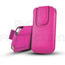 MAGNETIC BUTTON LEATHER PULL TAB CASE COVER POUCH SLEEVE FOR VARIOUS HANDSETS