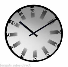 ACCTIM ANDERS MIRROR GLASS 35cm ROUND WALL CLOCK