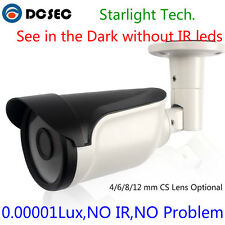 Starlight Analog CCTV Bullet Security Camera,Color Night Vision,Without IR leds