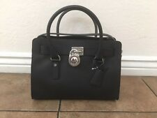 NWT! Michael Kors Hamilton Black Saffiano Leather Medium EW Satchel Handbag