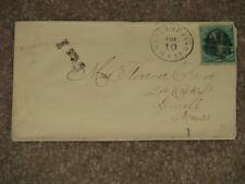US Scott# 158 on cover  Due 3 Cents, with Fancy Cancel