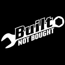 Built not bought project mustang c10 civic jdm window sticker vinyl sticker #174
