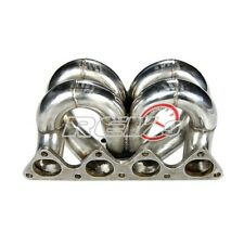 CIVIC INTEGRA EG EK DC2 B16 B18 EQUAL LENGTH STAINLESS T3T4 TURBO MANIFOLD T4E