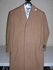 $595 New Jos A Bank 100% Camel Hair Executive single breasted topcoat 50 R