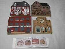 LOT Cats Meow Village Signed Faline Tradesman Series Winery Mill Candy Wheel Co