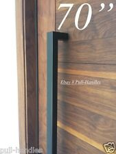 Entry Front Door Long Door Pull Handle Stainless Steel Entry Black Square
