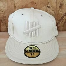 UNDEFEATED NEW ERA 59FIFTY BEIGE FIVE STRIKES FITTED HAT SIZE 7 1/2 NEW