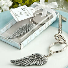 1 x Angel Wing Key Ring Favour Gift - NEW
