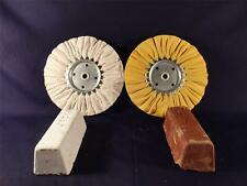 AIRWAY BUFFING WHEELS YELLOW AND WHITE 8 INCH AND COMPOUND