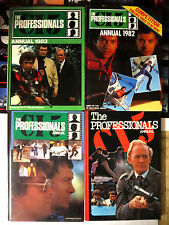 THE PROFESSIONALS - Set of 4 British Annuals 1980s TV series