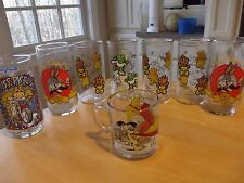 8 GLASS LOT McDonald's 1978 1981 1989 1990 BUGS GARFIELD PIGGY HENSON HOCKING