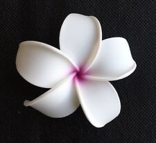 Hawaiian Plumeria Foam Flower Hair CLIP White Pink Wedding Bridal Luau Prom NEW