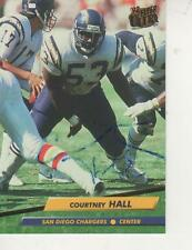 COURTNEY HALL SIGNED 1992 FBOB BABICH SIGNED 1972 TOPPS #89 - SAN DIEGO CHARGERS