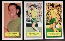Complete set of 3 NORWICH CITY Score UK football trade cards KENNON MACDOUGALL +