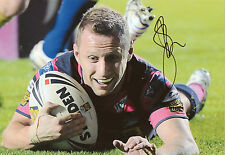 ROB BURROW Signed 12X8 Photo LEEDS RHINOS Rugby League LEGEND Proof  COA