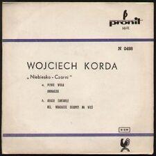 """WOJCIECH KORDA / NIEBIESKO CZARNI  Plynie Wisla - 7"""" EP"""