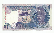 "MALAYSIA  RM1 6th Series 1986 Replacement Prefix BA_1253177  ""UNC"""