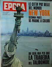 EPOCA N°634/ 18/NOV/1962 *LA LIEGI ORA X ORA LA TRAGEDIA FEL TALIDOMIDE* MARCONI