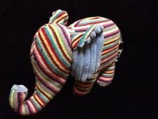 Jellycat Maypole Elephant Chime Elly Soother Blue Comforter Stripe Soft Toy