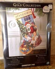 Gold Collection Sweet Dreams Santa Christmas Stocking Cross Stitch Kit  #8740