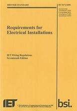 Electrical Regulations: Requirements for Electrical Installations, IET Wiring...