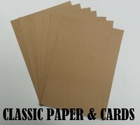 A4 KRAFT 100% RECYCLED BROWN 210GSM QUALITY CARD-IDEAL FOR CRAFT/WEDDINGS