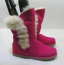new pink Winter comfortable flat ankle boot fur inside    size   9