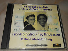 Frank Sinatra, Ivy Anderson - It Don't Mean A Thing - 2 CD Set - 2004