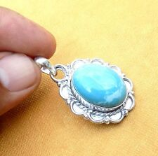 LARIMAR GEMSTON! 925 STERLING SILVER OVERLAY PENDANT MALE FEMALE JEWELRY