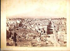 Large antique cabinet photo Giacomo Brogi 1890's panorama photo of Pompei