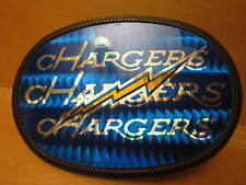 MEXICAN MADE PAYAN LENDO NFL SAN DIEGO CHARGERS HOLOGRAPHIC BELT BUCKLE VIC-THOR