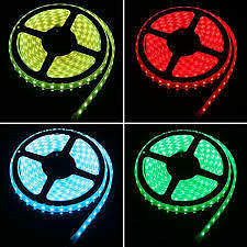 RGB Water Proof LED Strip Light Multicolor 5 M With IR Control Remote,Adaptor