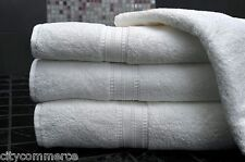 6 x 100% COTTON HAND TOWELS LUXURY 450 GSM JOB LOT - PURE WHITE