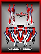 YAMAHA RHINO UTX SXS  SEMI CUSTOM GRAPHICS KIT FLOW RED