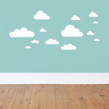 20 New WHITE CLOUDS WALL DECALS Baby Nursery Sky Stickers Kids Room Decorations!
