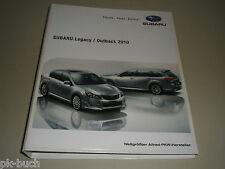 Schulungsunterlage Subaru Einführung Training Lehrgang Lagacy / Outback 2010