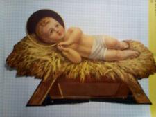 Santino Holy Card Figurina Bambin Gesù da Presepe  (R334)