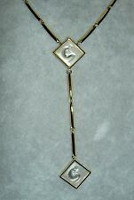 Rare LALIQUE Ondine Clear Crystal Nude Lady Gold-plated Dangle Y Necklace in Pak