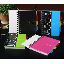 A6/A5/B5 Spiral Coil Plastic Cover Notebook Diary Journal School NotePad Book #J