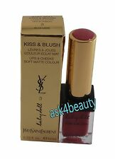 YSL Kiss & Blush Baby Doll  Lip & Cheeks(3 Rose Libre) New In Tstr Box