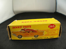 Dinky Toys GB 265 Plymouth USA Taxi  boite seule box only