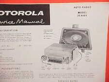 1958 1959 MERCEDES BENZ 190SL 220SE 300SL 300D MOTOROLA AM RADIO SERVICE MANUAL