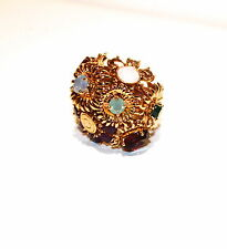 "NEW COACH TONY DUQUETTE  BOUQUET FLOWER RING  SIZE 6""  95913"